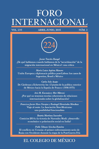 Ver Vol. LVI, 2 (224) Abril - Junio, 2016