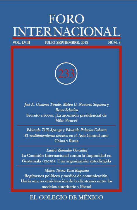 Ver Vol. LVIII, 3 (233) Julio-Septiembre, 2018