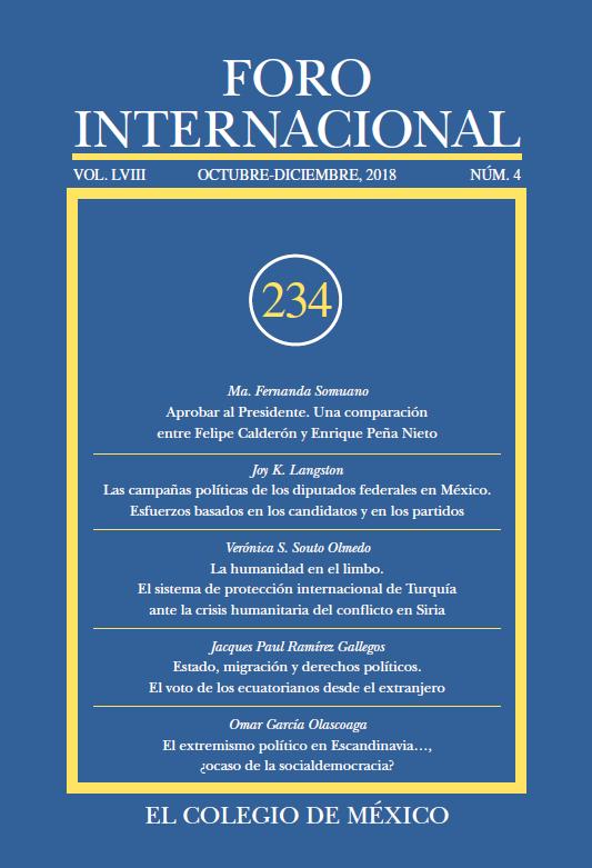 Ver Vol. LVIII, 4 (234) Octubre-Diciembre, 2018