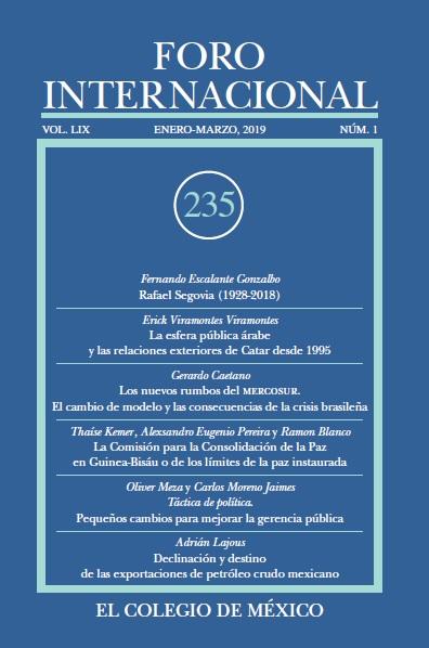 Ver Vol. LIX, 1 (235) Enero-Marzo, 2019