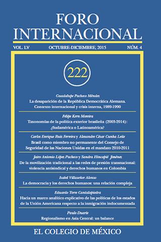 Ver Vol. LV, 4 (222) Octubre - Diciembre, 2015