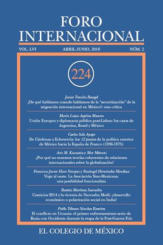 Ver Vol. LVI, 2 (224) Abril - Junio, 2016
